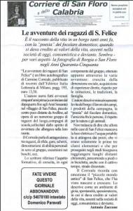 """Recensione sul """"Corriere di San Floro e della Calabria"""""""