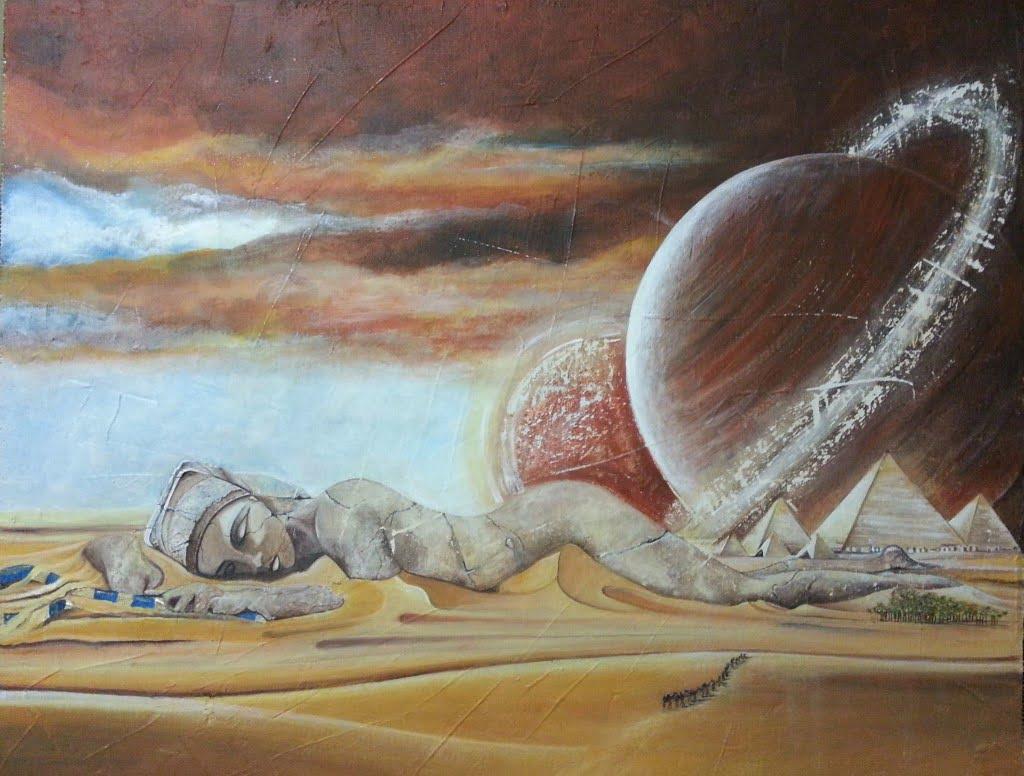 La congiunzione planetaria di Giza dipinto di Mary Ann
