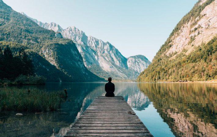 Qualità personale di una persona in meditazione